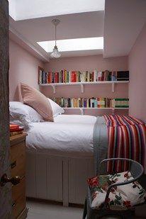 Tiny Bedroom - book shelves