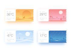 "via Muzli design inspiration. ""Weather app inspiration"" is published by Muzli in Muzli - Design Inspiration. App Ui Design, Flat Web Design, Iphone App Design, Design Logo, Mobile App Design, User Interface Design, Dashboard Design, Mobile Ui, Design Design"