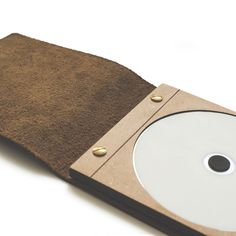 Photography / Videography Packaging   Elegant and compact    Branding   Leather & Wood   Zuriell Leather CD Case