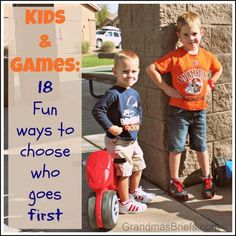 18 fun ways to choose who goes first when playing games with kids.