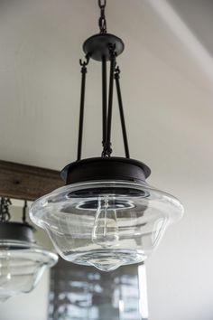 Pendant Lighting in Blog Cabin's Master Bathroom