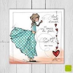 Carte postale d'amour « Tout acte d'amour » illustrée par Myra Vienne