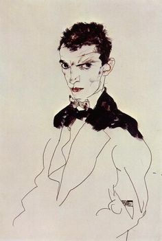 Egon Schiele self-potrait