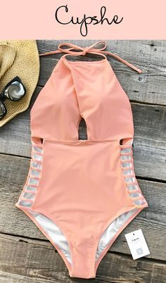 f0aa1f490e Cupshe Gone With the Wind Solid One-piece Swimsuit features