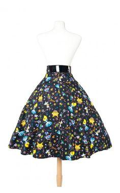Pinup Couture- Doris Skirt in Wonderland Print | Pinup Girl Clothing