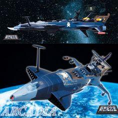 Aoshima Arcadia deathshadow reissue die cast capitan harlock SGM-20 Aoshima Arcadia deathshadow reissue die cast capitan harlock SGM-20...
