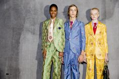 @gucci S/S 2016  @backstageat   See more @voguemagazine: http://bkstge.at/MFW-PHOTO-DIARY-VOGUE