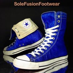 7a492970941 Converse Mens All Star Metallic Trainers Blue size 11 X Hi Boots Womens US  13 45