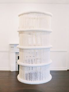 Textile Sculpture, Textile Fiber Art, Acrylic Rod, Institute Of Contemporary Art, Macrame Art, Macrame Patterns, Architectural Elements, Home Deco, Plant Hanger