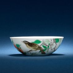 A rare famille verte bowl Kangxi six-character mark and of the period