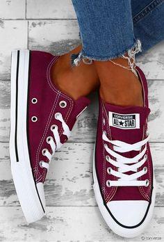 Converse All Star, Converse Nike, Maroon Converse, Converse Chuck Taylor, White Converse, Converse Bordeaux, Burgundy Sneakers, Burgundy Vans, Designer Shoes