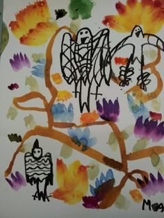 a beautiful picture from Monday's art club age 7-9