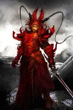 The Red Samurai Art