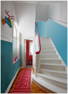 Little Miss Homes: Interiors Inspiration: Colourful Stairs