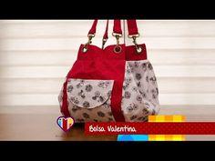 Bolsa mochila de tecido Valentina - Maria Adna Ateliê - Cursos e aulas de bolsas de tecido - YouTube
