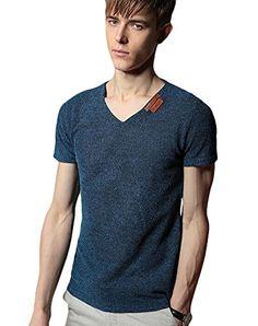 Minibee Men's V Neck T-shirt Cotton Linen V Neck Tee Blue-4XL Minibee http://www.amazon.com/dp/B00XX0PXCE/ref=cm_sw_r_pi_dp_SUfWvb09S0ZA1