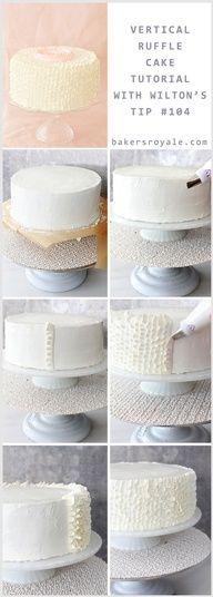 Ruffle Cake with Tutorial