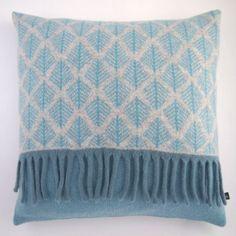 Blue Tree Knitted Cushion £55.00