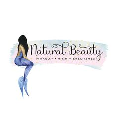 Premade Logo - Mermaid Logo Design - Customized with Your Business Name!