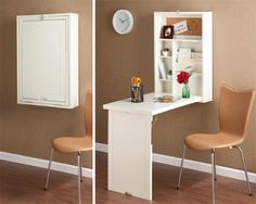 14 Ingenious Folding Furniture Designs Which Are More Than Ideal For Small Spaces Folding Furniture, Space Saving Furniture, Furniture Design, Folding Desk, Folding Tables, Dining Furniture, Small Space Living, Small Spaces, Small Dorm