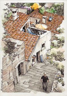 Jorge Royan - JR Sketches 2013 - Bonnieux