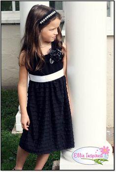 Chic Girl knit dress Ellie Inspired PDF pattern Size 4 - Size 12