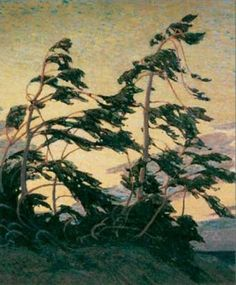 Pine Island, Georgian Bay - Tom Thomson - Oil Painting Reproductions and Prints from Canvas Replicas Canadian Painters, Canadian Artists, Emily Carr, Landscape Art, Landscape Paintings, Tree Paintings, Group Of Seven Paintings, Group Of Seven Artists, Tom Thomson Paintings