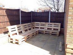 rustic whole pallet boards corner sofa frame