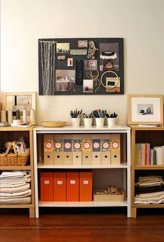 Nice and organized! #studio #creative #workspace #organization #shelving