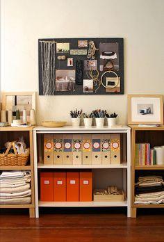 Nice and organized! #studio #creative #workspace #organization #shelving