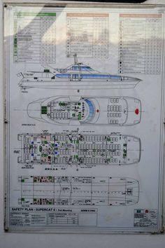 Safety Plan of Sydney Ferries Supercat 4. : evacuation