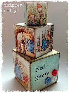 Peter Rabbit wooden cubes