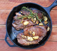 I like to cook steak on a cast iron pan versus the grill because they come out perfectly medium rare and juicy. I also forego the sear + oven method which involves an additional step and extra time. The quicker I can get food on the table for dinner, the better! A dry rub ofsalt,...Read More »