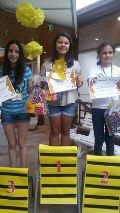 Spelling Bee podium