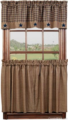Vintage Star Navy Curtain Valance by India Home Fashions at The Country Porch