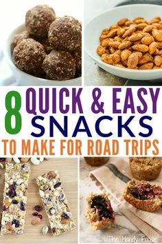 Goin' on road trips? Save extra money on road trips by making these easy healthy snacks. These are gluten-free recipes and homemade road trip snacks that will make you and the kids happy. Call them road trip essentials. These can be snacks on the go for Snacks To Make, Snacks For Work, Quick Snacks, Kid Snacks, Snacks For The Road, Snacks Ideas, Lunch Ideas, Meal Ideas, Healthy Snacks For Diabetics