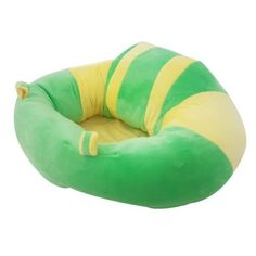 Buy this #Green #& #Yellow #Plush #Baby #Chair is used for upright sitting position once baby can support their own head. It helps your little one to stabilize their back while they learn to sit. This chair wraps itself around the baby making it impossible for baby to fall forward. It has an anti-slip design making it is safer and more secure.