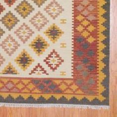 Indo Hand-knotted Kilim Ivory and Rust Wool Rug (8 x 10) - Overstock™ Shopping - Great Deals on 7x9 - 10x14 Rugs