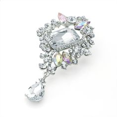 vintage style crystal ladies womens fashion dress brooch | 14582 | £16.50