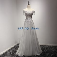 Aliexpress.com : Buy Light Gray Evening Dresses Long Prom Dresses 2017 New Arrival Strapless Sleeveless Lace up back Pleats Tulle Applique Sequins from Reliable dresse suppliers on L&P DQL Studio Lpdress Store