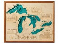 3-D wall art of your favorite lake.