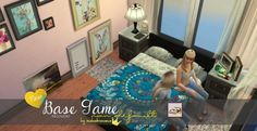 In a bad romance: Double bed recolor • Sims 4 Downloads