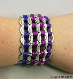 Purple and Plum Pop Tab Bracelet by LWaite.deviantart.com on @DeviantArt