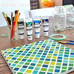 Tape, canvas and paint--how easy is this???