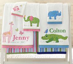 Safari Bath Towels make bath time an adventure!