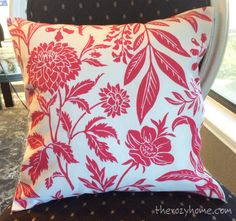 No Sew Pillow (With Zippers!)
