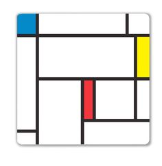 Mondrian Decorative Magnetic Dry Erase Board by Kikkerland
