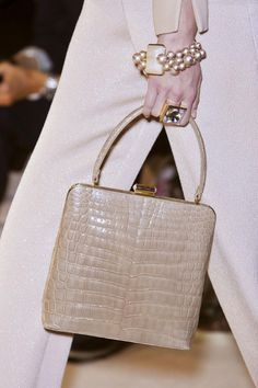 Fall 2013 Couture Armani Privé small handle bag  via Jennifer Reed