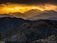 Coucher de soleil sur Joshua Tree National Park