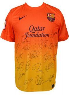 2012/13 Barcelona Team Signed Jersey - Sports Memorabilia
